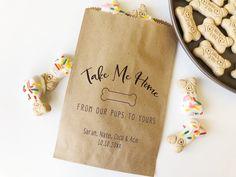 Custom Popcorn Bag Personalized Bag Popcorn Favor Wedding Program Favor Bag Rustic Popcorn Bag Confetti Toss -Petal Toss-Kraft