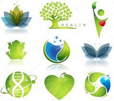 Хорошее здоровье и символы экологии — стоковая иллюстрация #10666500