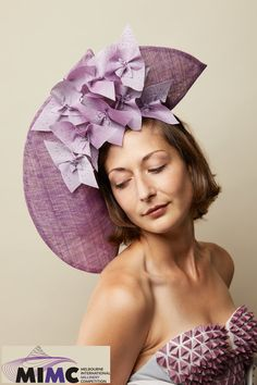 Not a Wallflower - Catherine Storm's entry in the 2019 Melbourne International Millinery Competition (MIMC). Fascinator, Headpiece, Spring Racing, Melbourne, Special Occasion, Competition, Elegant, Color, Fashion