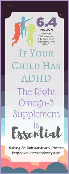 Omega-3 Supplements are essential for ADHD