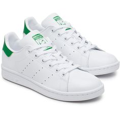 Stan Smith sneakers Women ($110) ❤ liked on Polyvore featuring shoes, sneakers, tennis trainer, white tennis shoes, tenny shoes, tennis sneakers and white trainers