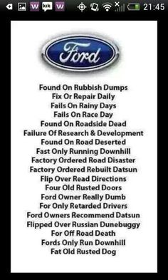 What Does Ford Stand For In A Bad Way