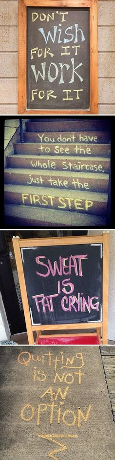 Just in case you were thinking about giving up today, check out these awesome and inspiring chalkboard quotes.