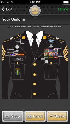 iUniform ASU - Builds Your Army Service Uniform on the App Store - Uniform Army Ranks, Military Ranks, Military Insignia, Military Life, Military History, Military Tactics, Military Jeep, Army Service Uniform, Army Uniform