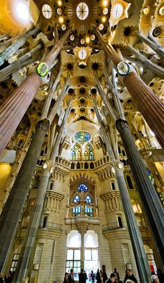 Sagrada Familia, Barcelona, Spain: some of the craziest architecture I've ever seen in my life!
