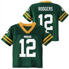 NFL Green Bay Packers Toddler Aaron Rogers Jersey, Toddler Boy's, Size: 4 Years