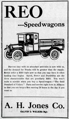 1950 REO Speedwagon Trucks original vintage advertisement. It's a bear for work. Not only does
