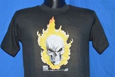 vintage 90s GHOST RIDER MARVEL COMICS BLACK COTTON t-shirt YOUTH XL SMALL