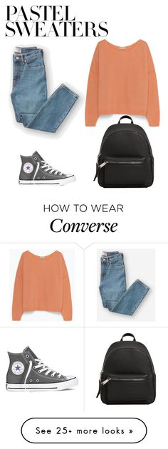 """""""pastel"""" by laumarg on Polyvore featuring Everlane, Converse, MANGO and pastelsweaters"""