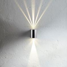 SKAPETZE - Baleno / LED-Wandleuchte Up&Down mit Lichtfilter / Edelstahl Aussenleuchten Wandleuchten Aussen