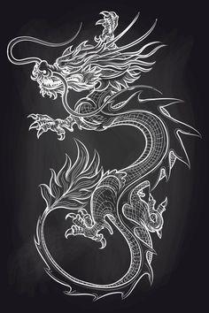 Chinese Dragon on Chalkboard # Chalkboard # Background # Chinese # Dragon - Chinese . - Chinese dragon on blackboard # blackboard # background # Chinese # dragon – Chinese dragon on bla - Chinese Dragon Drawing, Dragon Tattoo Drawing, Small Dragon Tattoos, Dragon Tattoo For Women, Japanese Dragon Tattoos, Dragon Tattoo Designs, Dragon Hand Tattoo, How To Draw Dragon Tattoo, Chinese Tattoos