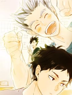 Look at Kuroo in the background, cheering his bro on