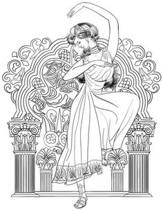 Greek Woman Dance Coloring Page From Greece Category Select 27626 Printable Crafts Of Cartoons Nature Animals Bible And Many More