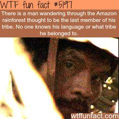 Man wandering through the Amazon rainforest - WTF fun facts