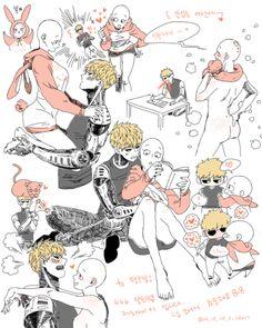 one punch man funny One Punch Man Funny, One Punch Man Anime, Fanart, Genos X Saitama, Saitama One Punch Man, Card Captor, Anime Ships, Anime Couples, Kawaii Anime