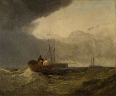 ca. 1820 Sea View (Fishing Boats)   oil on canvas