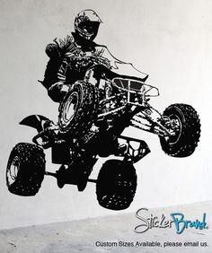 Vinyl Wall Decal Sticker Quad Bike #JH242 | Stickerbrand wall art decals, wall graphics and wall murals.