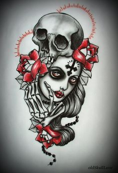 Muerte tattoo flash - Tattoo Designs by Mariola Weiss  <3 <3