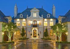 French chateau - Dallas area - cast stone facade