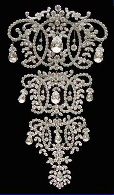Victorian Diamond Corset Brooch/Stomacher