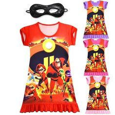Cartoon Baby Girls Clothes Children Birthday Party Dress Sleeveless Kids Princess Dresses Vestido The Incredibles 2 Costume Girls Tutu Dresses, Tutus For Girls, Kids Outfits Girls, Toddler Outfits, Baby Boy Outfits, Princess Dresses, Baby Girls, Preppy Baby Boy, Baby Halloween Outfits