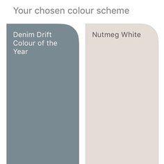 dulux nutmeg white and denim drift Dulux Paint Colours Neutral, Dulux White Paint, Valspar Colors, Hallway Colours, Room Colors, House Colors, Denim Drift Dulux Paint, Dulux Denim Drift Bedroom, Houses