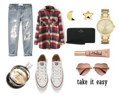"""""""for the long days"""" by jennathompson504 on Polyvore featuring Abercrombie & Fitch, Converse, Erica Weiner, Kate Spade, Hermès, Too Faced Cosmetics, women's clothing, women, female and woman"""