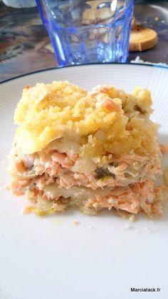 Crumble fenouil, parmesan saumon -Recette Tupperware-