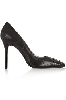 DKNY Shay studded quilted leather pumps   THE OUTNET