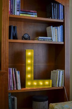 Vintage Inspired Marquee Light Letter L by SaddleShoeSigns on Etsy