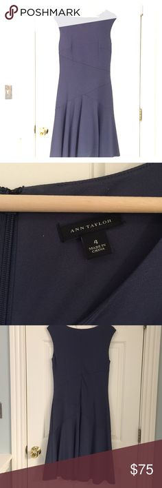 Ann Taylor Crepe Midi Dress Navy Blue colored Crepe Midi Dress can be dressed up or down! Great for work! Only worn once. http://www.anntaylor.com/crepe-midi-dress/387355?skuId=20367756&defaultColor=1246&colorExplode=false&catid=cata000012 Ann Taylor Dresses Midi
