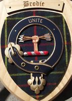 Scottish Gifts Brodie Family Clan Crest Wall Plaque
