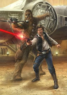 Han and Chewie /by Chris Trevas #StarWars #art