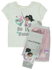 1d5e5280 Nella The Princess Knight Top, Skirt and Leggings Set. Disney OutfitsKids  ...