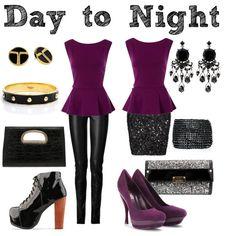 Day to Night by stylishmewardrobe, via Polyvore