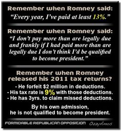 Romney's not qualified to be President.