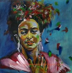 1 of a 2 Frida painting commission done. Acrylic on Canvas.