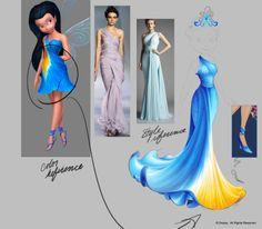 Pixie Hollow dresses in vector (internal work demo)