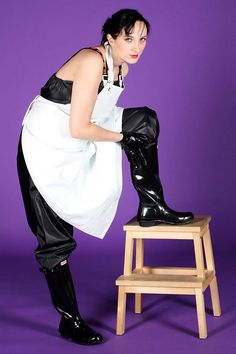 Latex, Plastic Aprons, Shiny Days, Rubber Gloves, Rain Wear, Catwalk, Riding Boots, Blouse, Ballet Skirt