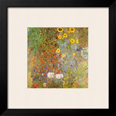 Country Garden with Sunflowers Art Print by Gustav Klimt at Art.com
