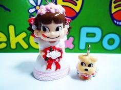 Peko-chan doll-pendant & Dog Pendant