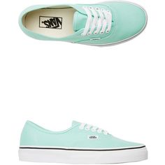 Vans U Authentic Shoe ($45) ❤ liked on Polyvore featuring shoes, sneakers, zapatos, aqua, lacing sneakers, lace up sneakers, vans footwear, vans shoes and lace up shoes