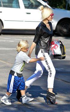 Gwen Stefani Takes Zuma to School