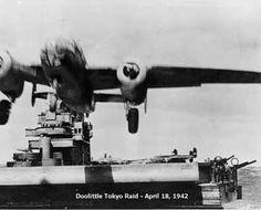 18 April 1942 Doolittle Raid B-25 takeoff