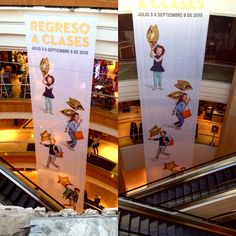 #Largeformat at its best. #dyesub #printed #FABRIC for Department Store in #Mexico  #banners #hangingbanners from the ceiling. #instore #dyesublimation #digitalprinting #fabricframes #tensionfabric #pendones #printing #fabricprints #design #decor #images #wideformat #onlyfabric #gogreen #classy #backtoschool #regresoaclases #txd