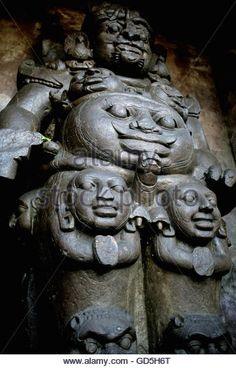 Huge sculpture of Rudra Shiva - Stock Image