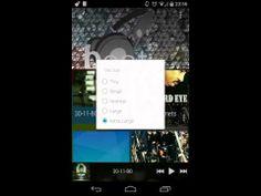 ▶ beat - a music player app with floating controls - YouTube Appli qui va chercher la musique non seulement sur Google music mais aussi sur Drive et Dropbox.