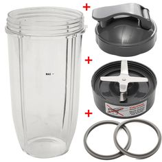 34 for Oz Stainless Steel Juicer Jar Set Blender Spare Parts  Cup + Flip Top Lid + Extractor Blade + 2 Fitted Gaskets //Price: $US $21.00 & FREE Shipping //     #homeappliance24