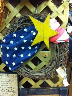 Easy DIY 4th of July wreath.