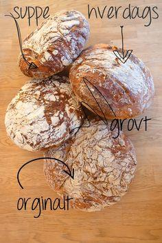 Bare Elise: 4 eltefrie brød Gin, Baking, Bakken, Backen, Jeans, Postres, Pastries, Roast